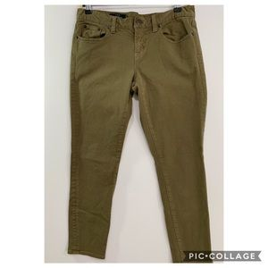 J Crew 30 ankle toothpick khaki jeans